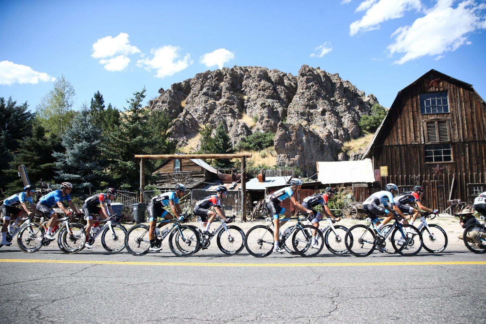 The peloton did a loop around Wanship.