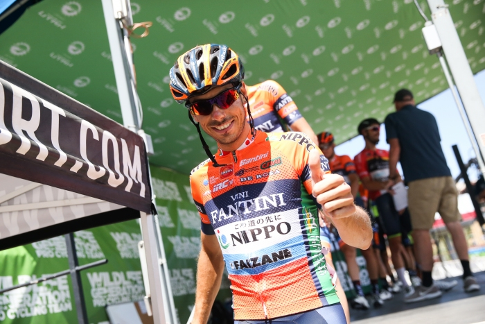 Stage 4 winner, Marco Canola with the thumbs up.