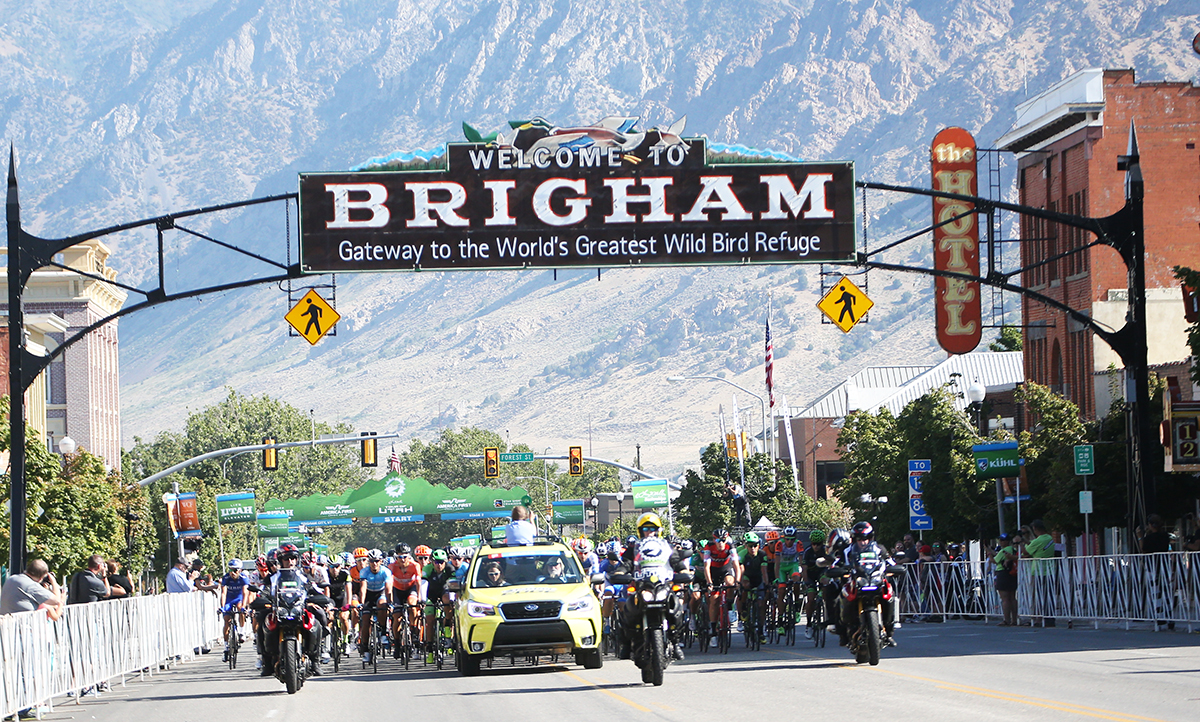Stage 2 of the 2017 Tour of Utah. Brigham City to Snowbasin. Photo by Cathy Fegan-Kim, cottonsoxphotography.net