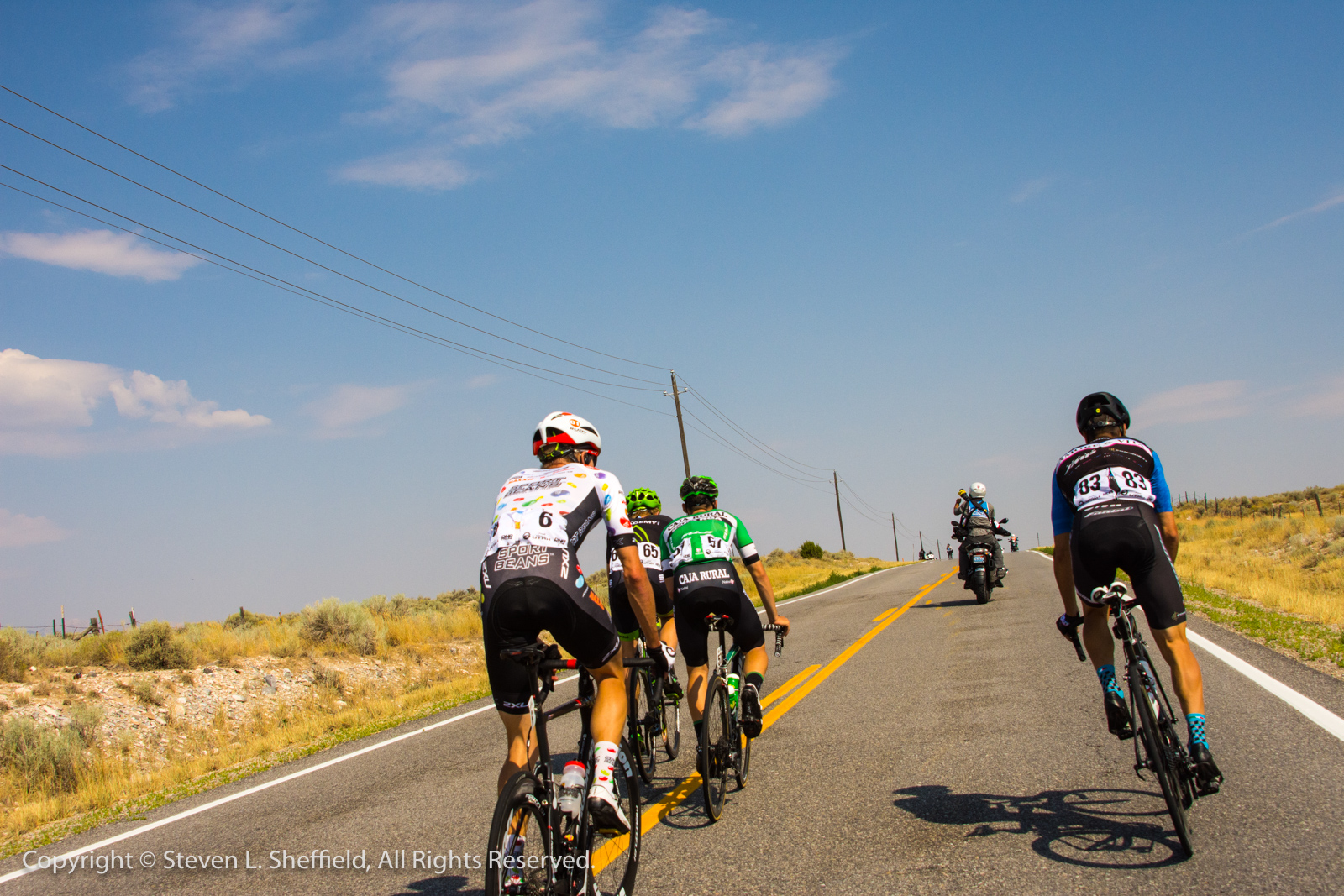 A View From the Rear of the Break, Tour of Utah Stage 4, South Jordan to South Jordan. Photo by Steven Sheffield