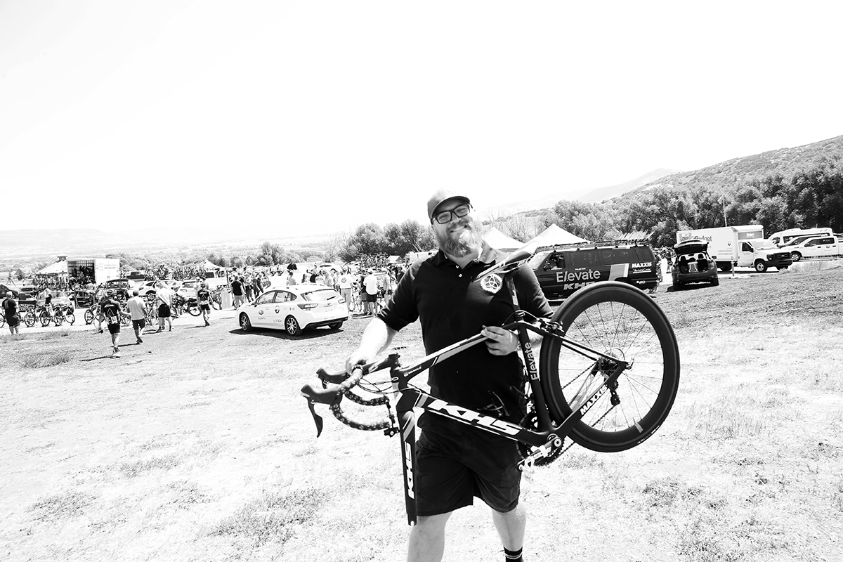 Mechanics are the unsung heroes of bike racing. 2017 Tour of Utah Stage 6, Heber to Snowbird, photo by Cathy Fegan-Kim, cottonsoxphotography.net