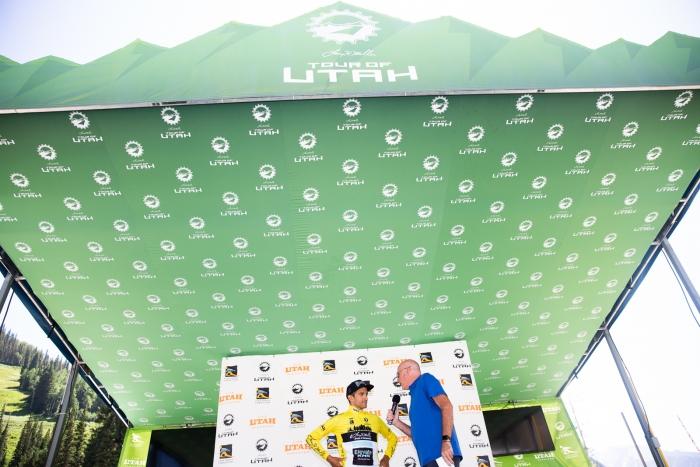 2019 Tour of Utah Prologue winner, James Piccoli (Elevate-KHS) Photo Cathy Fegan-Kim
