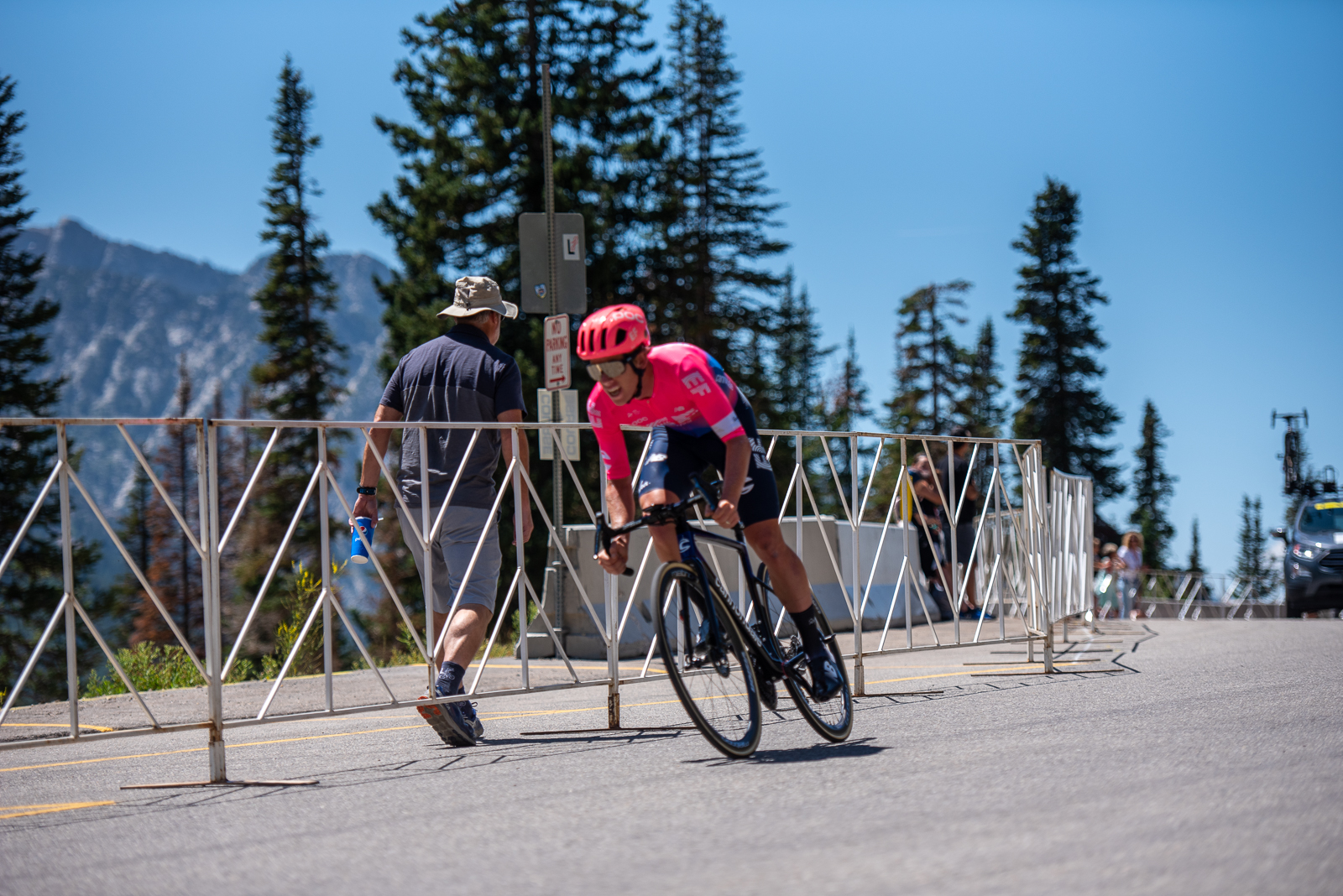 Lawson Craddock (EF Education First) on his way to a 2nd place finish in the Prologue time trial. 2019 Tour of Utah. Photo by Steven L. Sheffield