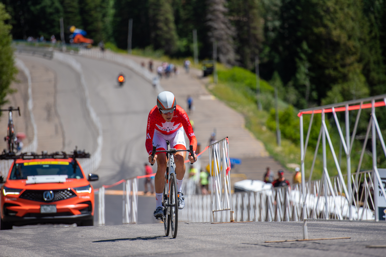 2017 Tour of Utah winner Rob Britton (Rally UHC Cycling) during the Prologue time trial. 2019 Tour of Utah. Photo by Steven L. Sheffield