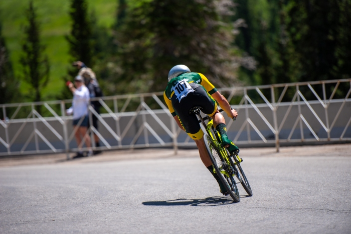 Scott McGill (Aevolo) during the Prologue time trial. 2019 Tour of Utah. Photo by Steven L. Sheffield