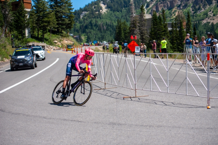 Joe Dombrowski (EF Education First) during the Prologue time trial. 2019 Tour of Utah. Photo by Steven L. Sheffield