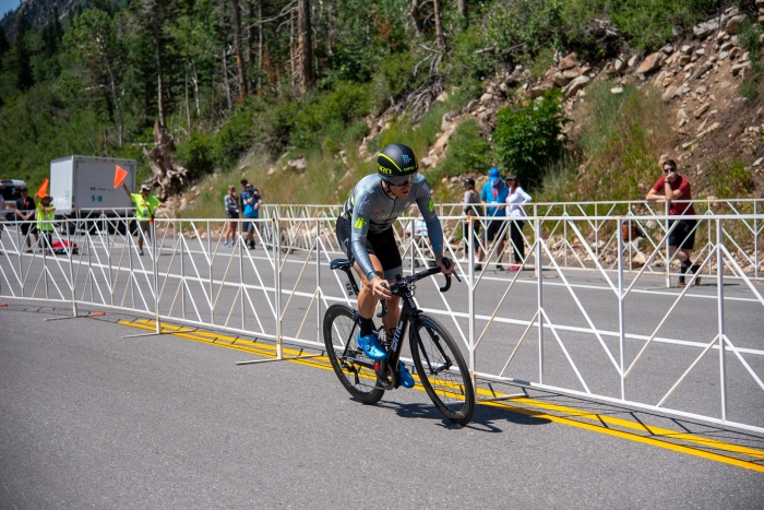 Tanner Putt (Arapahoe-Hincapie p/b BMC) during the Prologue time trial. 2019 Tour of Utah. Photo by Steven L. Sheffield