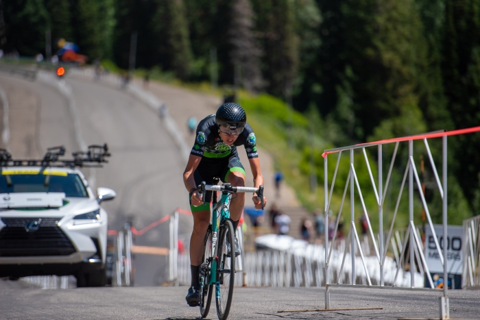 Keegan Swirbul (Worthy Pro Cycling) during the Prologue time trial. 2019 Tour of Utah. Photo by Steven L. Sheffield