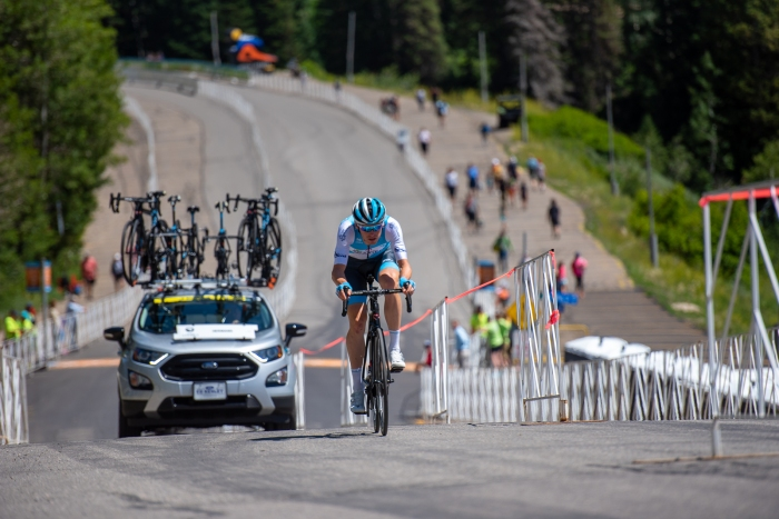 Ben Hermans (Israel Cycling Academy) during the Prologue time trial. 2019 Tour of Utah. Photo by Steven L. Sheffield