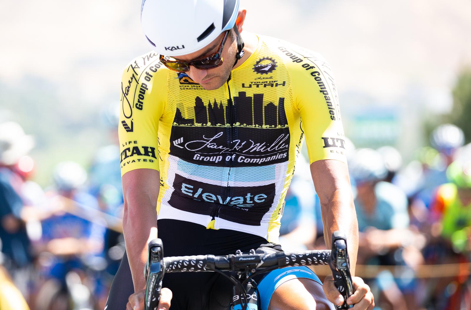 James Piccoli (Elevate KHS) lines up before the start. Photo: Cathy Fegan-Kim