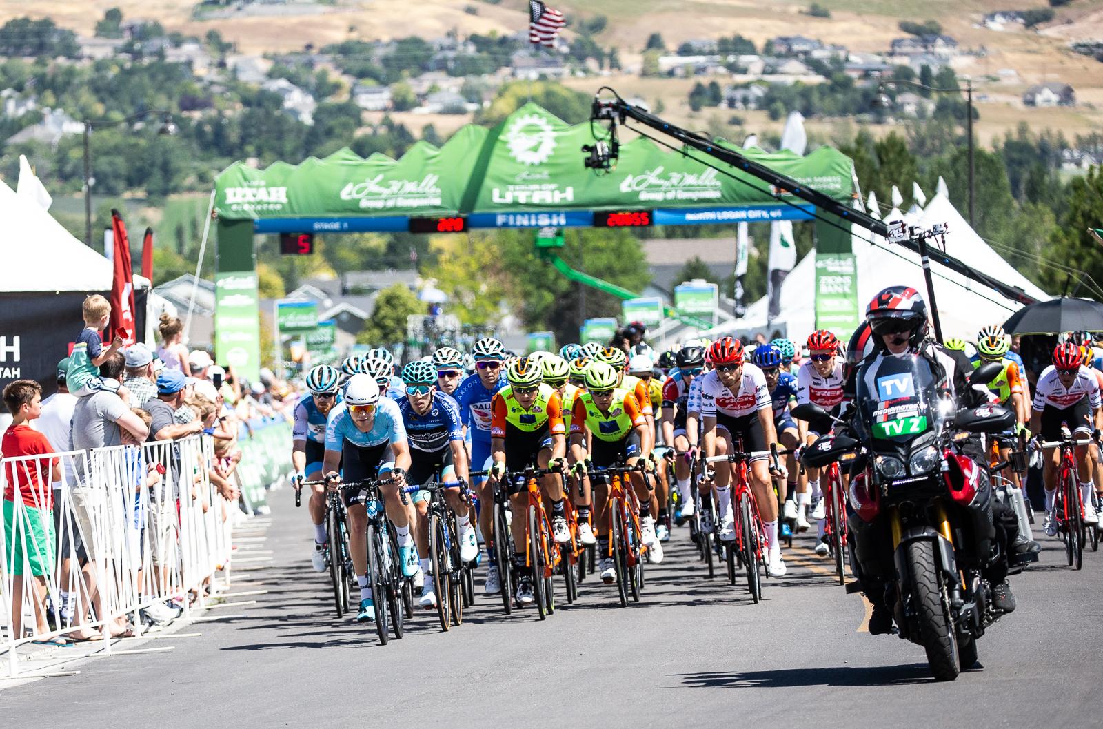 Five to go, Stage 1 Tour of Utah. Photo: Cathy Fegan-Kim