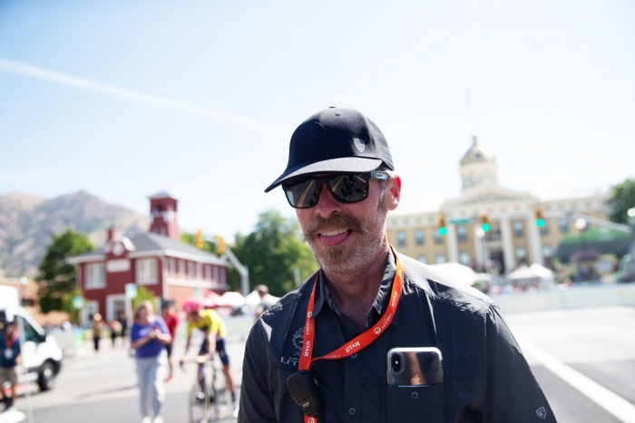 Technical Direct Dave Harward before Stage 2, 2019 Tour of Utah. Photo by Cathy Fegan-Kim