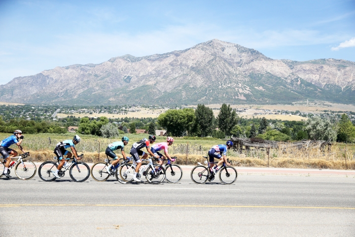 Alex Howes (EF Education First) leading the chase. Stage 2, 2019 Tour of Utah. Photo by Cathy Fegan-Kim