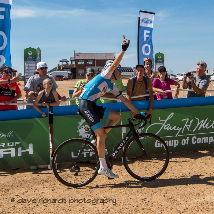 VICTORY! Stage 2 - Brigham City to Powder Mountain Resort, 2019 LHM Tour of Utah (Photo by Dave Richards, daverphoto.com)