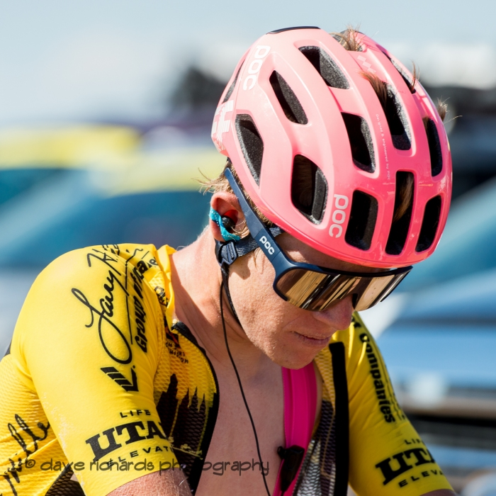 Race leader Lawson Craddock ( EF Education First) made a valiant effort but ended up losing the yellow jersey on Stage 2 - Brigham City to Powder Mountain Resort, 2019 LHM Tour of Utah (Photo by Dave Richards, daverphoto.com)