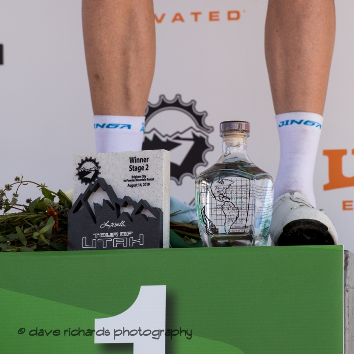To the victor goes the spoils. Stage 2 - Brigham City to Powder Mountain Resort, 2019 LHM Tour of Utah (Photo by Dave Richards, daverphoto.com)