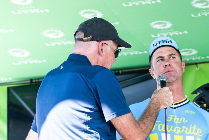 "Tour of Utah \""Super Fan\"". Stage 4, 2019 Tour of Utah. Photo by Cathy Fegan-Kim"