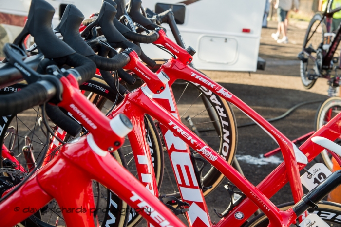 Cleaned and prepped, the bikes are ready for tomorrow's racing. Stage 5 - Canyons Village Park City Mountain Resort, 2019 LHM Tour of Utah (Photo by Dave Richards, daverphoto.com)