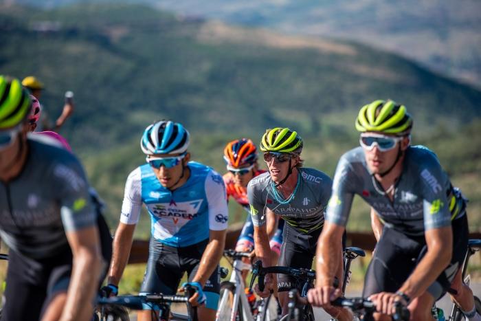 TJ Eisenhart (Araphaoe-Hincapie p/b BMC) sits in the peloton. Stage 5, 2019 Tour of Utah. Photo by Steven L. Sheffield