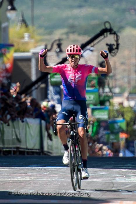 Stage 6 winner - Joe Dombrowski (EF Edcuation First), 2019 LHM Tour of Utah (Photo by Dave Richards, daverphoto.com)