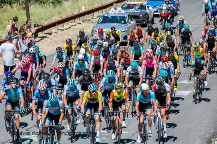 Tight formation. Stage 6, 2019 LHM Tour of Utah (Photo by Dave Richards, daverphoto.com)