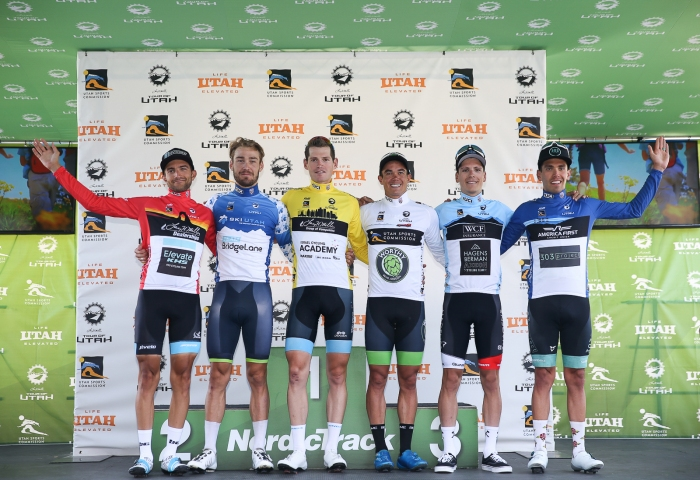 Your 2019 Tour of Utah Final Jersey Winners. Photo by Cathy Fegan-Kim