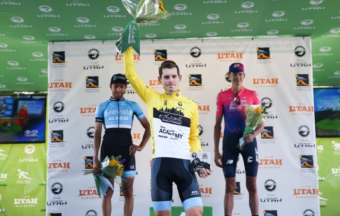 2019 Tour of Utah GC Podium: Ben Hermans (Israel Cycling Academy), James Piccoli (Elevate KHS Pro Cycling) Joe Dombrowski (EF Education First)