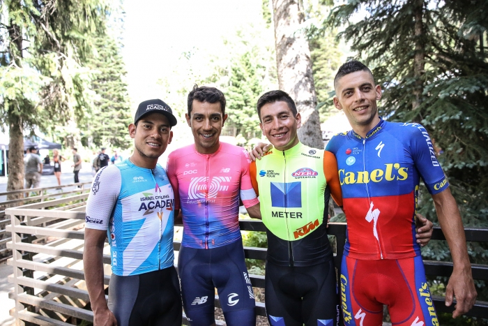 Four Colombian racers at the Tour of Utah this year.