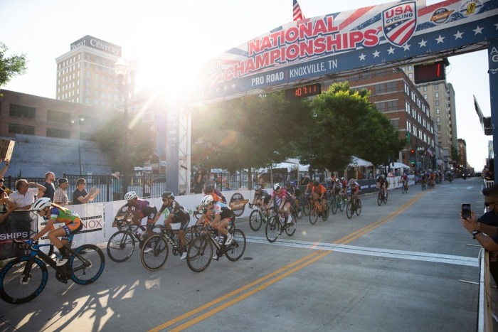 2021 USA Cycling Pro Women\'s Criterium Championships. June 18, 2021, Knoxville, TN. Photo by Cathy Fegan-Kim, cottonsoxphotography.com