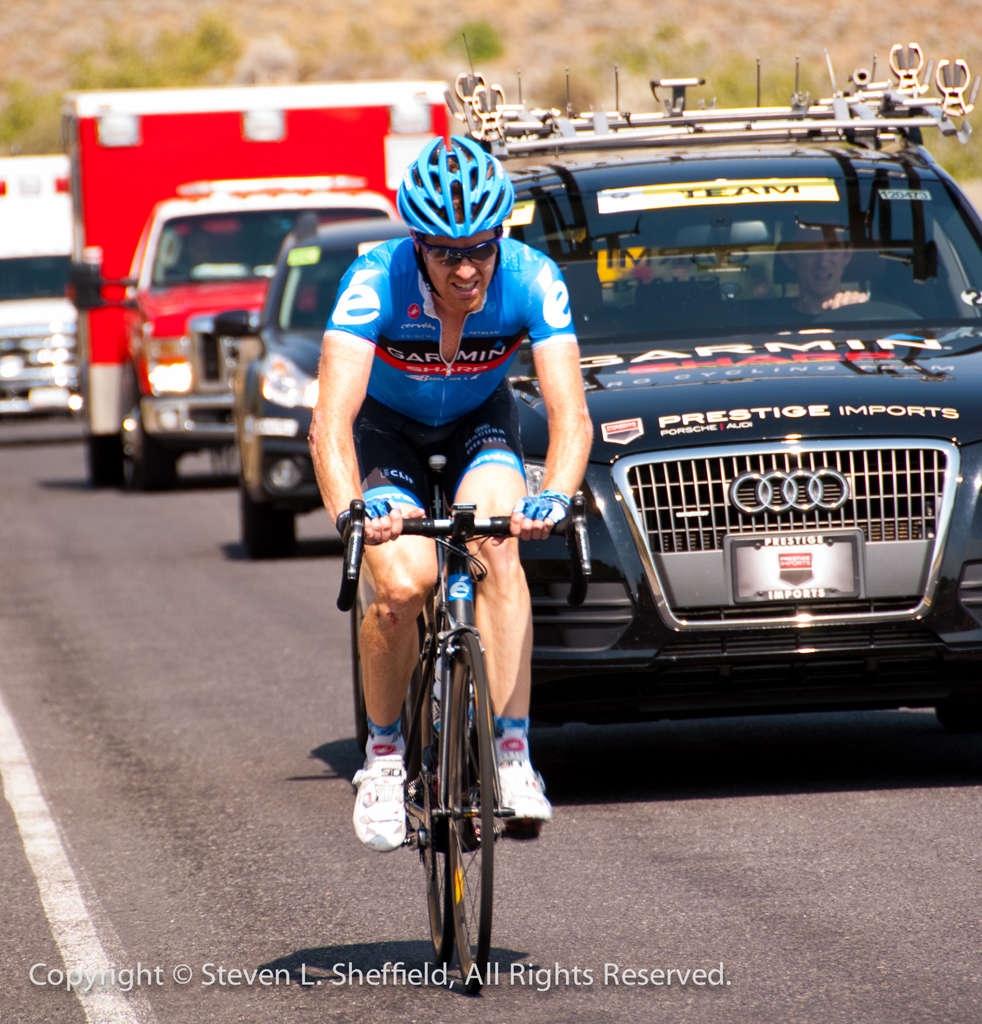 Tyler Farrar finished within the time cut. Photo: Steven Sheffield.