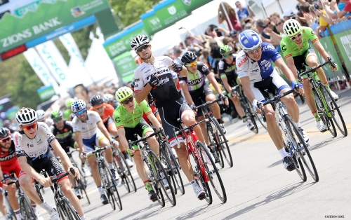 Kiel Reijnen celebrates his win in Stage 5 of the 2016 Tour of Utah. Photo by Cathy Fegan-Kim, cottonsoxphotography.com