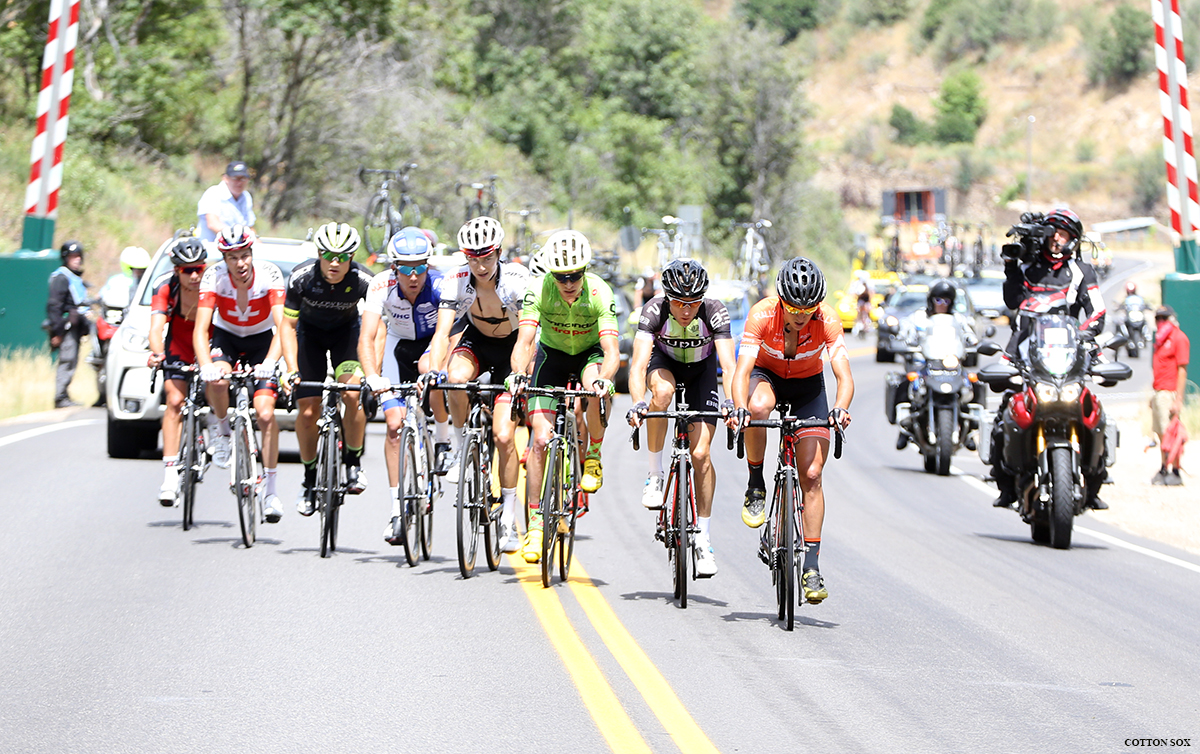The break. Stage 6 of the 2016 Tour of Utah, photo by Cathy Fegan-Kim, cottonsoxphotography.com