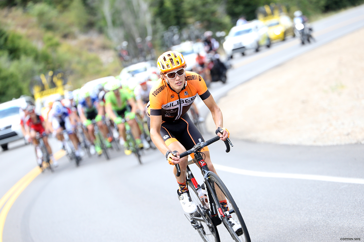 A Silber rider on the move in Stage 6 of the 2016 Tour of Utah, photo by Cathy Fegan-Kim, cottonsoxphotography.com