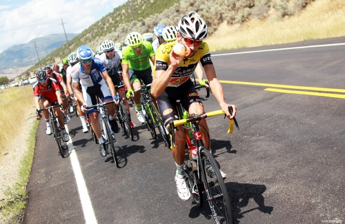 Lachlan Morton lost the stage and the lead to Andrew Talansky in Stage 6 of the 2016 Tour of Utah, photo by Cathy Fegan-Kim, cottonsoxphotography.com