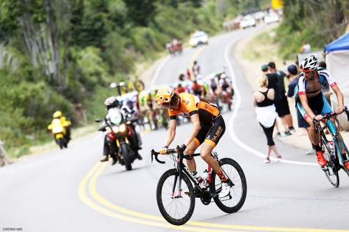 The road steepens in Stage 6 of the 2016 Tour of Utah, photo by Cathy Fegan-Kim, cottonsoxphotography.com