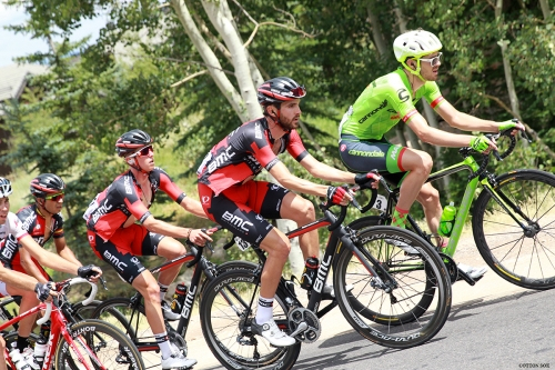 Local hero TJ Eisenhart (3rd from right) in Stage 6 of the 2016 Tour of Utah, photo by Cathy Fegan-Kim, cottonsoxphotography.com