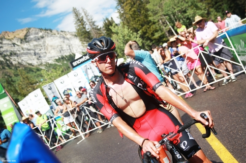 TJ after a long day in Stage 6 of the 2016 Tour of Utah, photo by Cathy Fegan-Kim, cottonsoxphotography.com