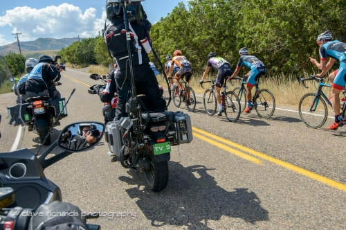 Working the Tour of Utah - this is what we do. Stage 6, 2016 Tour of Utah. Photo by Dave Richards, daverphoto.com