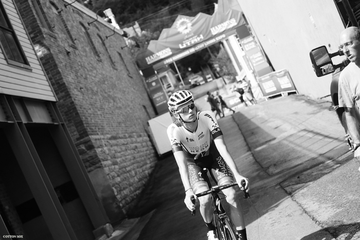 Adrien Costa before Stage 7 of the 2016 Tour of Utah. Photo by Catherine Fegan-Kim, cottonsoxphotography.com