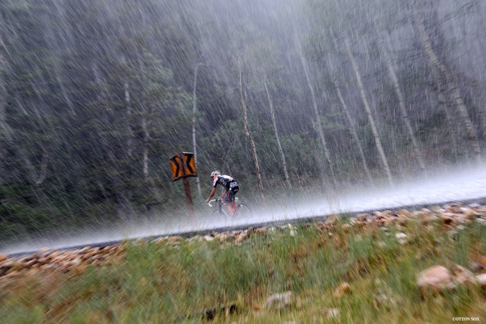 Rain!! Stage 7 of the 2016 Tour of Utah. Photo by Catherine Fegan-Kim, cottonsoxphotography.com