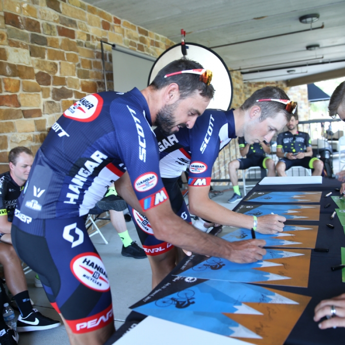 Utah's team - Hangar 15 - signs in. Francisco Mancebo and Cortlan Brown are both set to ride. Photo: Catherine Fegan-Kim