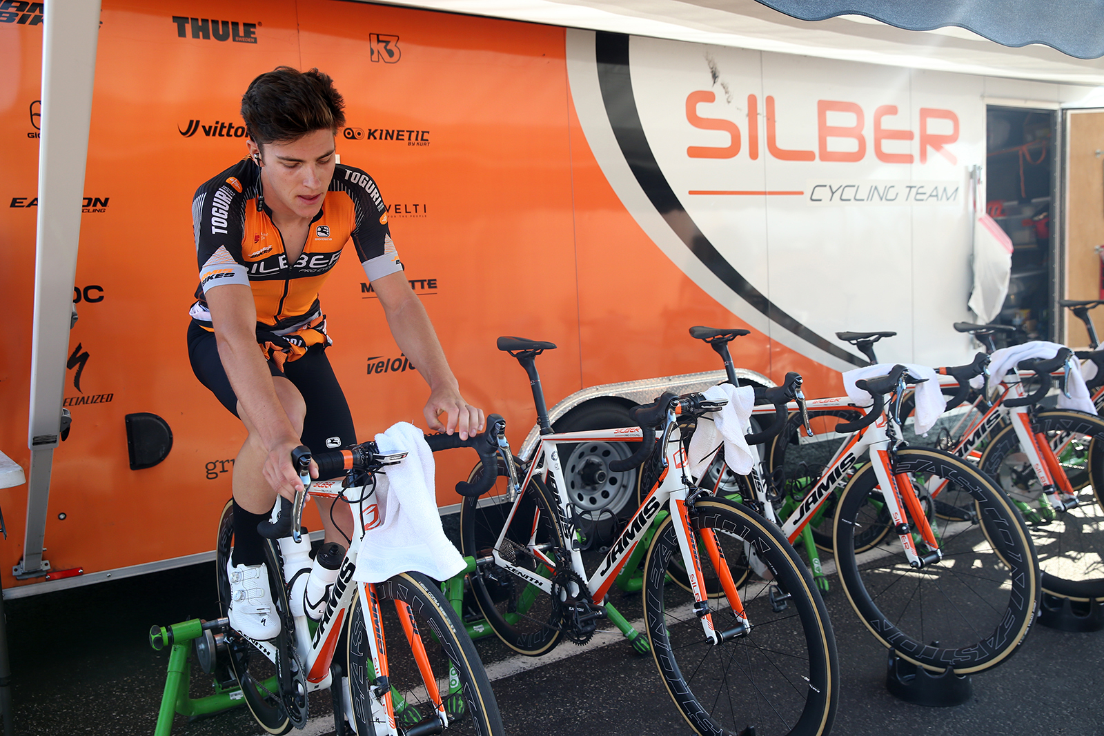 Warm up. 2018 Tour of Utah Team Prologue, August 6, 2018, St. George, Utah. Photo by Cathy Fegan-Kim, cottonsoxphotography.net