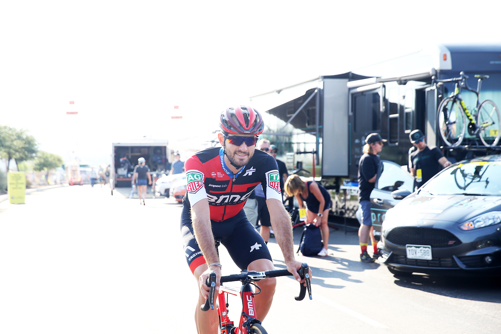 Joey Rosskopf, BMC. 2018 Tour of Utah Team Prologue, August 6, 2018, St. George, Utah. Photo by Cathy Fegan-Kim, cottonsoxphotography.net