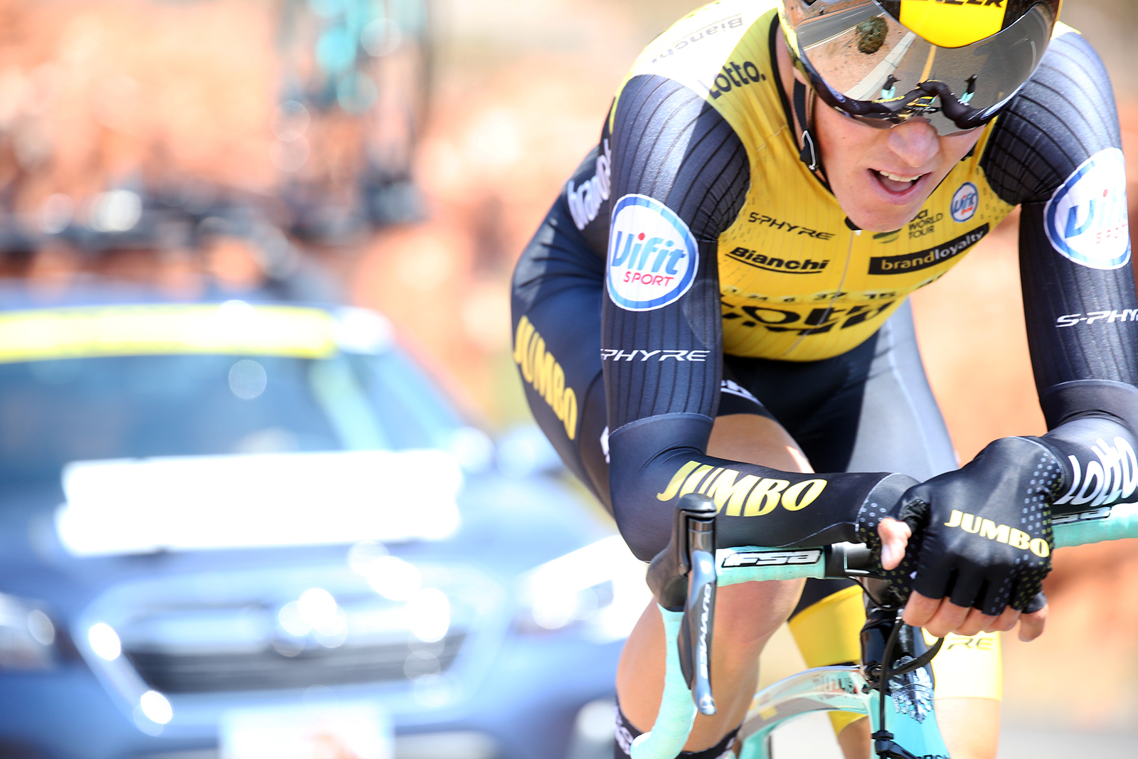 Lotto NL - Jumbo. 2018 Tour of Utah Team Prologue, August 6, 2018, St. George, Utah. Photo by Cathy Fegan-Kim, cottonsoxphotography.net