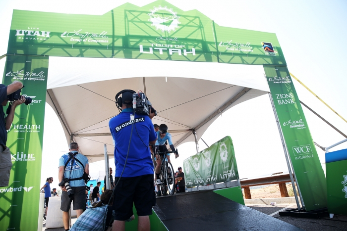 Prologue. 2018 Tour of Utah Team Prologue, August 6, 2018, St. George, Utah. Photo by Cathy Fegan-Kim, cottonsoxphotography.net