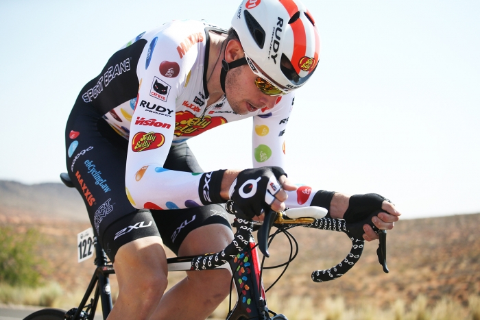 Jelly Belly p/b Maxxis. 2018 Tour of Utah Team Prologue, August 6, 2018, St. George, Utah. Photo by Cathy Fegan-Kim, cottonsoxphotography.net