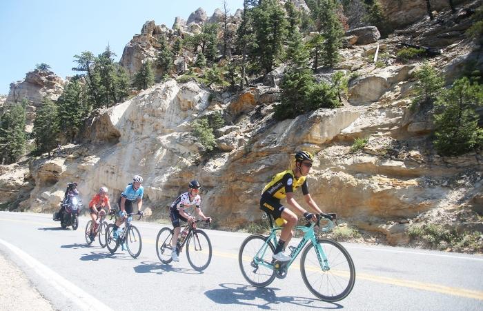 The break. 2018 Tour of Utah Stage 1, August 7, 2018, Cedar City, Utah. Photo by Cathy Fegan-Kim, cottonsoxphotography.net
