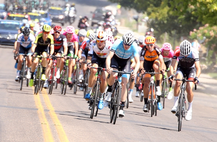 Teams attempt for an early break. 2018 Tour of Utah Stage 2, August 8, 2018, Payson, Utah. Photo by Cathy Fegan-Kim, cottonsoxphotography.net