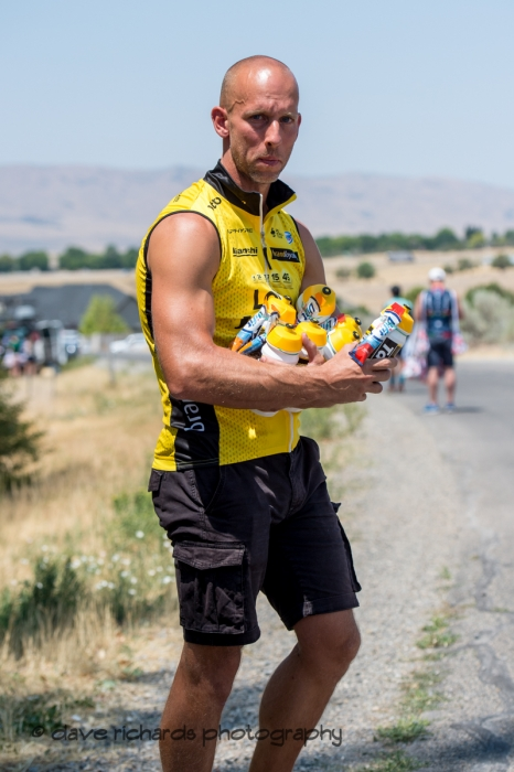 Team Lotto NL-Jumbo Soigneur prepares to hand out bottles in the feed zone on Stage 2, 2018 LHM Tour of Utah cycling race (Photo by Dave Richards, daverphoto.com)