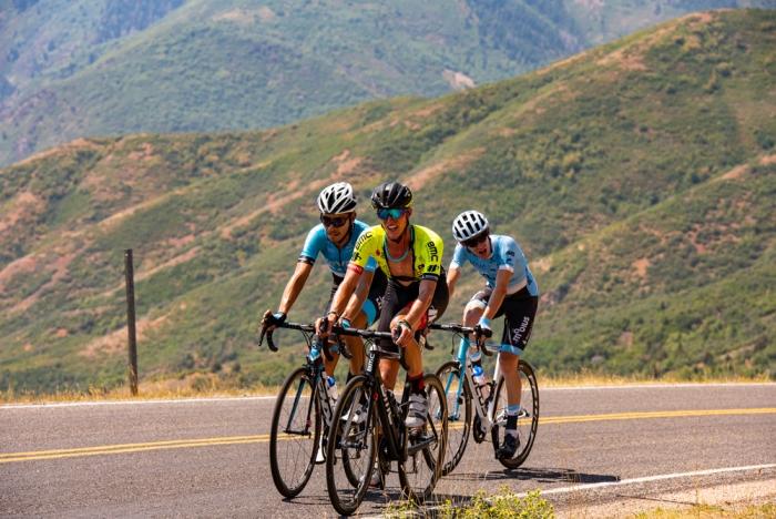 Local favorite TJ Eisenhart (Holowesko-Citadel) on Mount Nebo. 2018 Tour of Utah Stage 2, August 8, 2018, Payson, Utah. Photo by Steve Sheffield, flahute.com